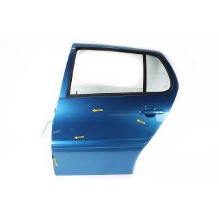 VW Polo 6N2 Bj.99 4 türig Tür Türe hinten links Fahrerseite HL LA5M blaumet.